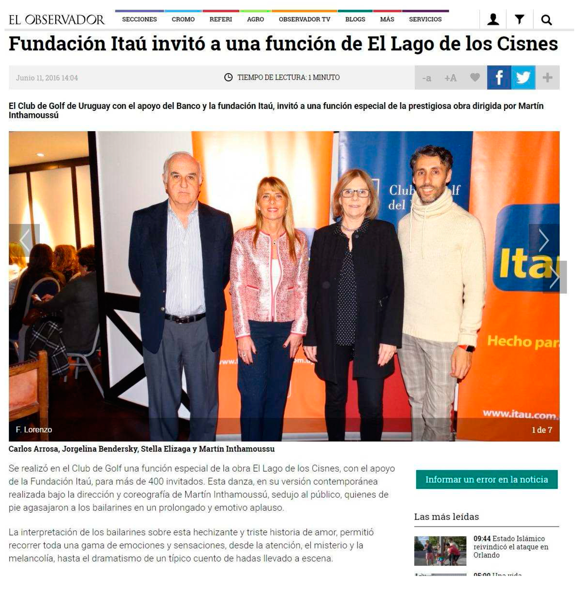Cobertura de Prensa - Junio 2016