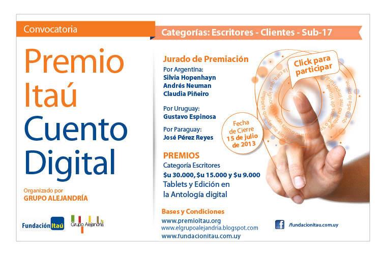 Categorías Premio Itaú de Cuento Digital 2013